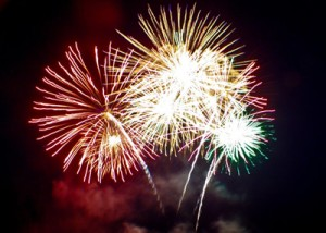Blog feature photo of fireworks for blog titled End-of-year roundup, 2015
