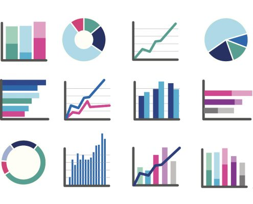 Blog feature image with data visualisation icons