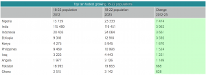 Table - Nigeria demographics