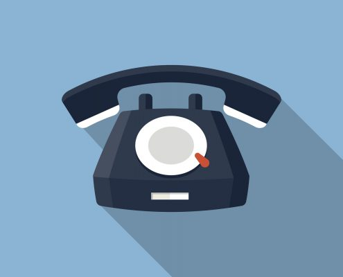 Blog feature image of a telephone