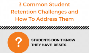 Common student retention challenges infographic