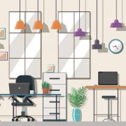 Blog feature illustration of an office