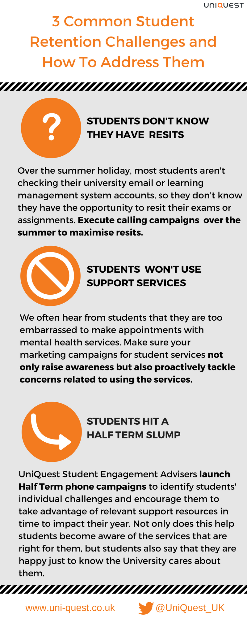 Infographic: 3 common student retention challenges