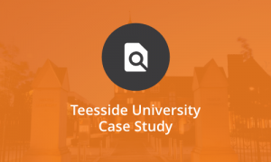Image that says Teesside University case study