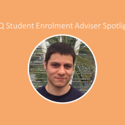 Blog feature image with photo of UQ Enrolment Adviser Dom
