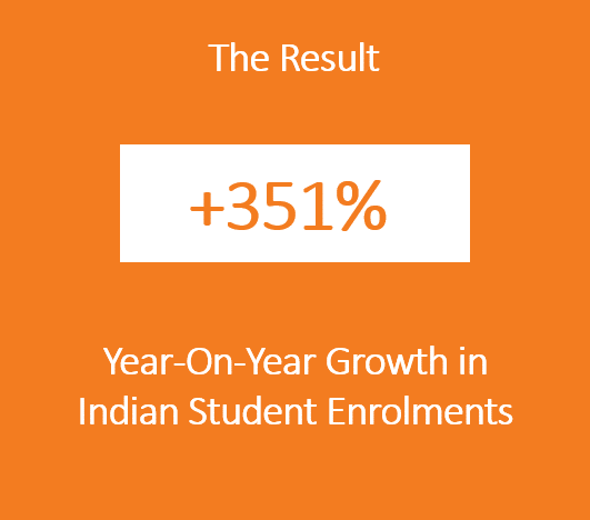Teesside University Indian student enrolment result