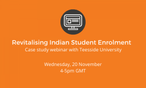 Feature image of case study webinar Revitalising Indian Student Enrolment