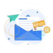 Illustration of dynamic content email