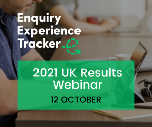 2021 Enquiry Experience Tracker UK results webinar