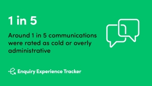 Enquiry Experience Tracker communication quality benchmark